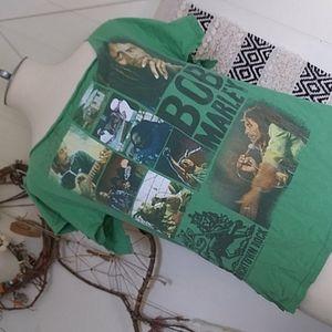 Bob Marley Alterd Green T Shirt Awesome Mon'